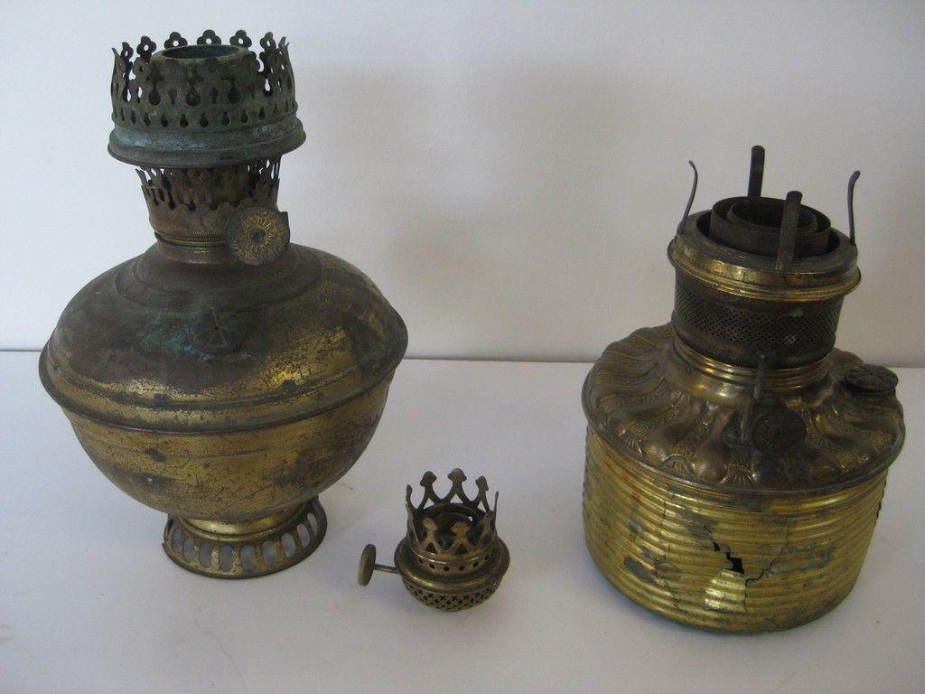 Vintage Oil Kerosene Lamp Parts Fonts Burner P A Victor