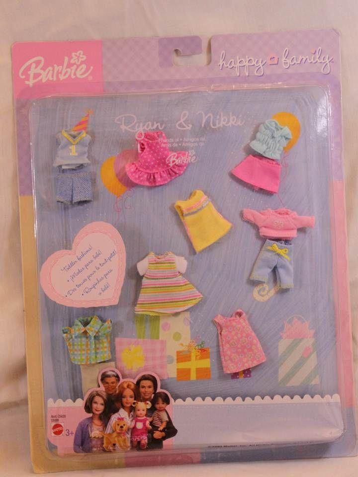 Barbie Happy family Ryan and Nikki clothes 2003 series NIB NRFB
