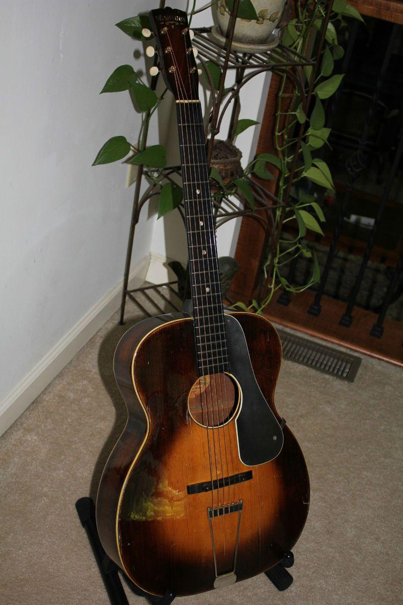 1930s Washburn 5255 vintage guitar Tonk Bros SUPER COOL & RARE EXC