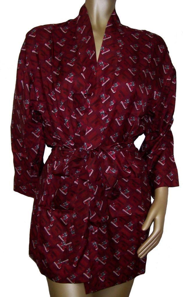 Merge Left UNIVERSITY OF ALABAMA CRIMSON TIDE 100% Silk Robe   Medium