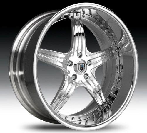20 asanti AF144 Chrome Wheels Rims 3 Piece