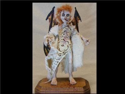 OOAK Zombie Vampire Fairy Art Doll Creepy Horror
