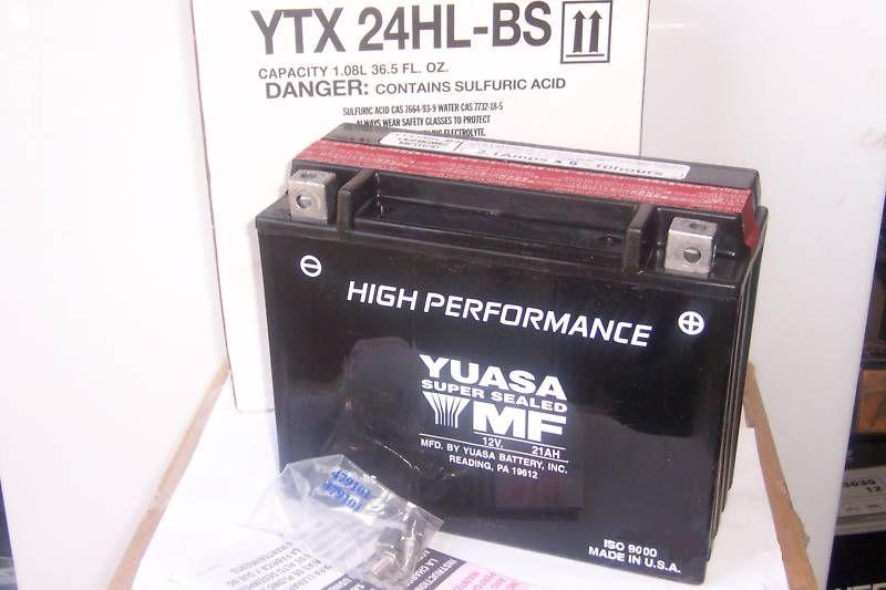 Yuasa YTX24HL BS Lawn Mower Garden Tractor Battery