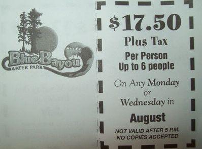 Blue bayou coupons discounts