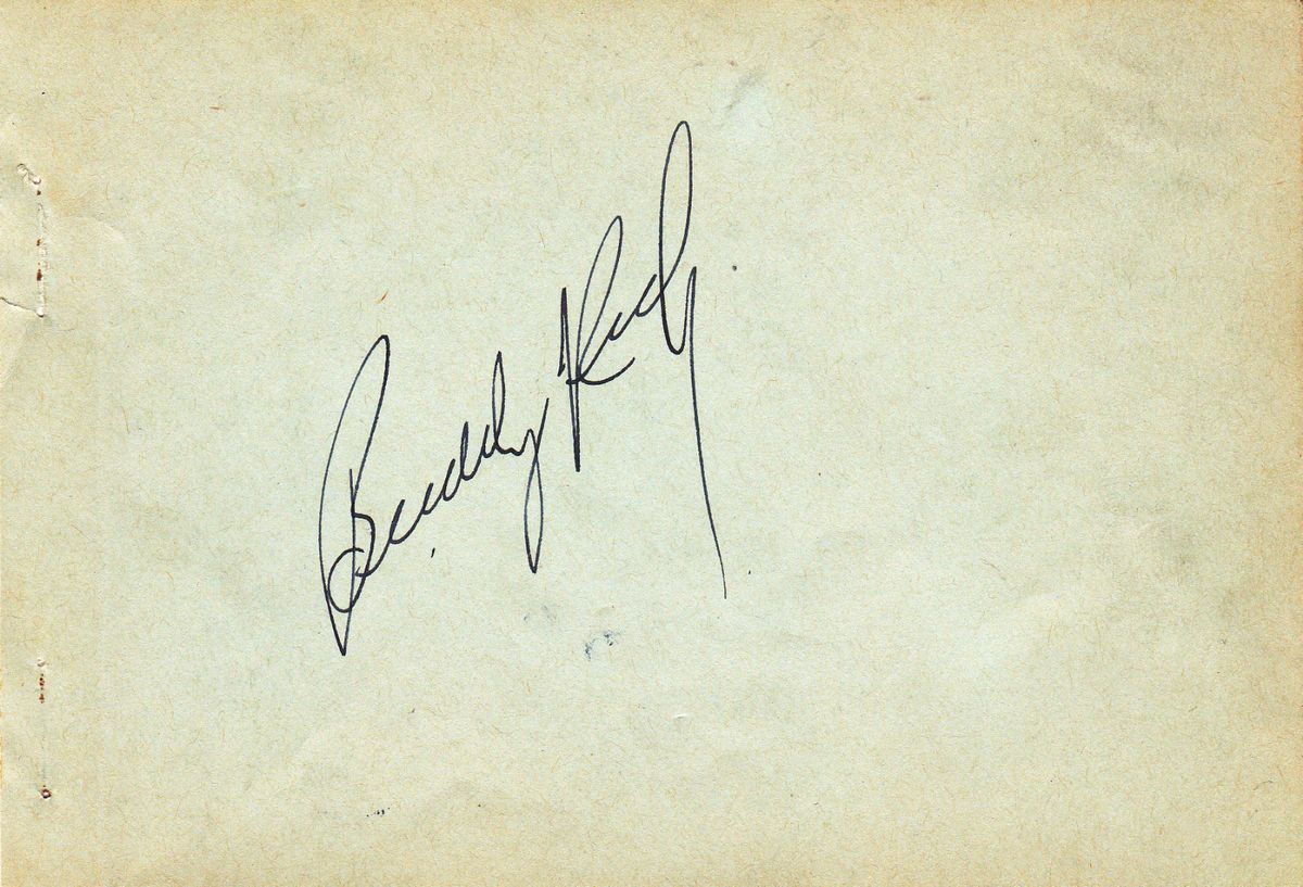 Big Band Drummer Buddy Rich Autograph Page Died 1987