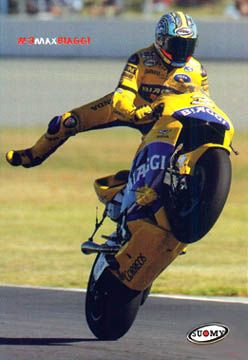 Max BIAGGI MotoGP Honda Motorcycle Racing Poster Suomy