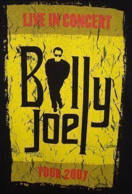 Billy Joel 2007 Large Black Concert Tour T Shirt