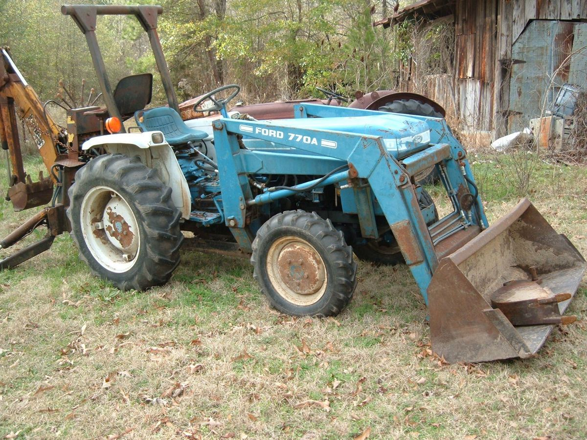 Ford 1710 Loader : Ford tractor with front end loader and kelley backhoe
