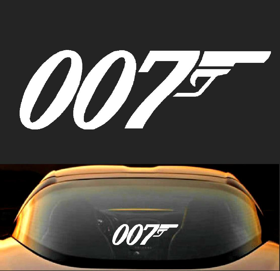 James Bond Agent 007 Vinyl Car Decal Sticker Movie Gun Logo Smith and