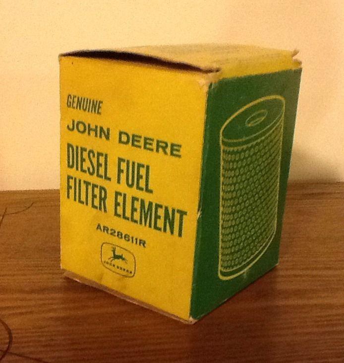 Vintage John Deere Diesel Fuel Filter Element Part Antique