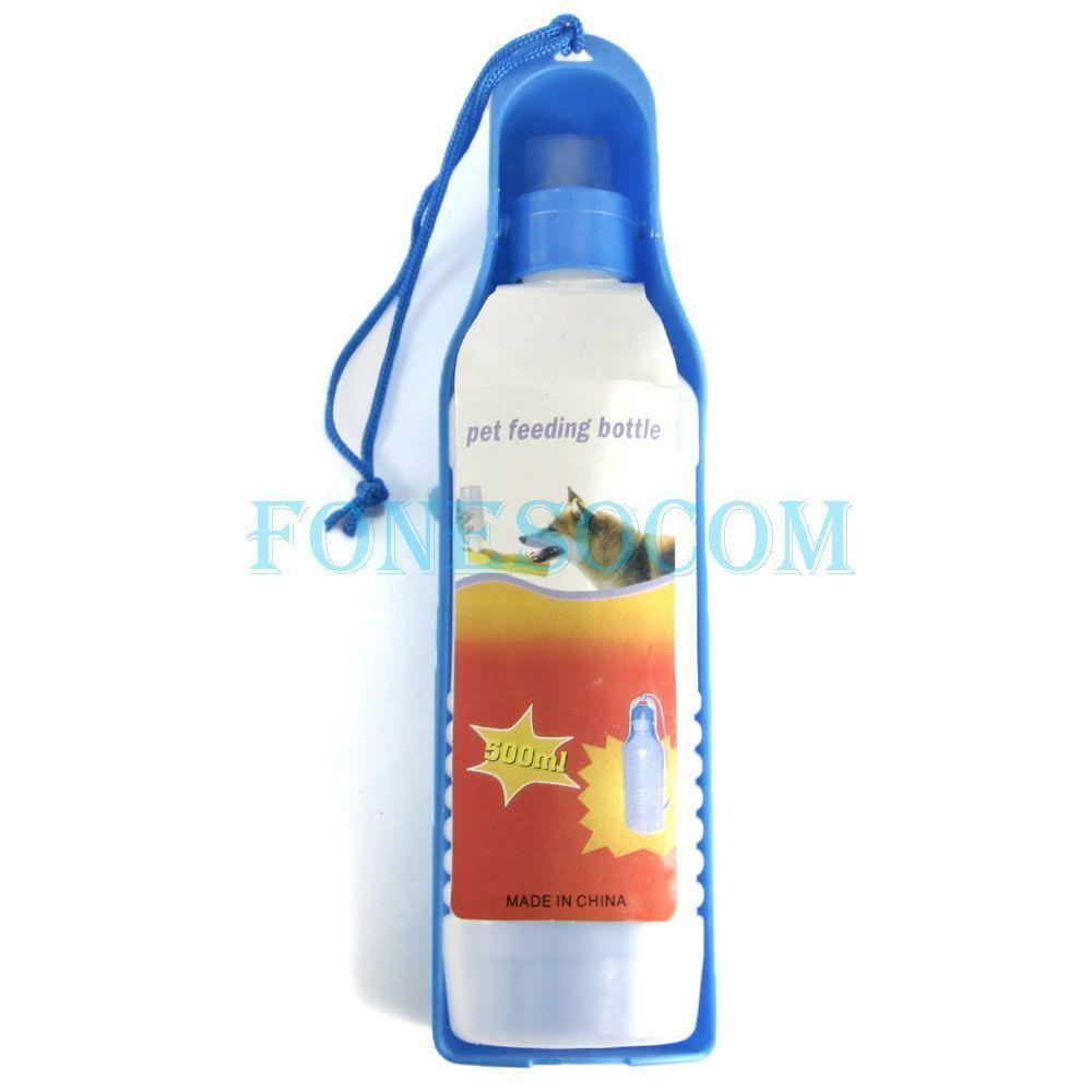 Portable Pet Dog Travel Water Bottle Dispenser Bowl 500ml New