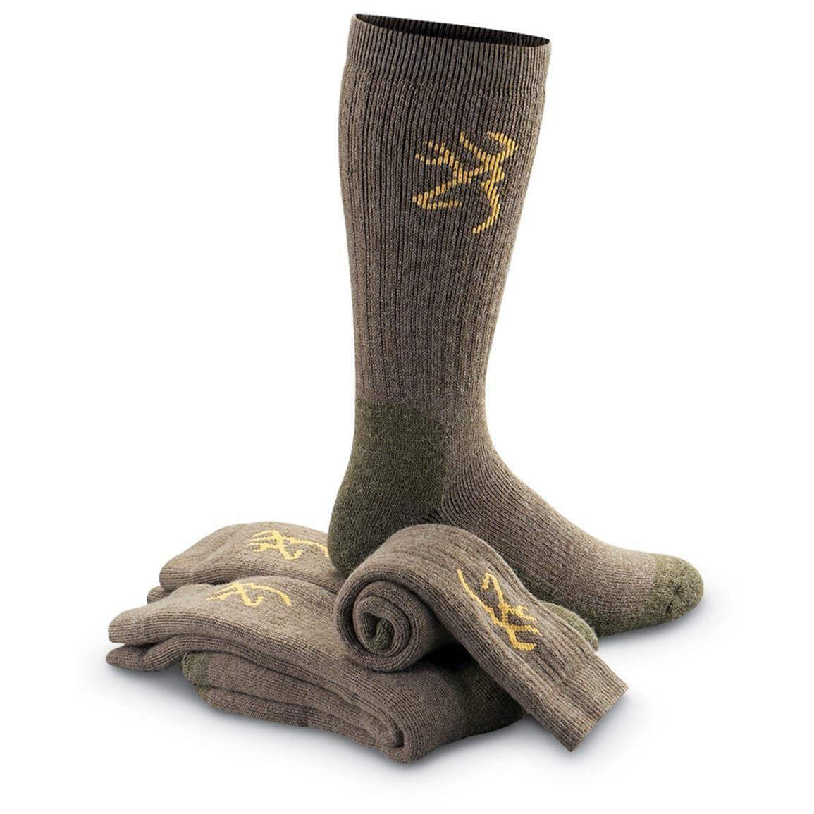 Pairs Browning® Merino Wool Blend Mens Socks Taupe NIP