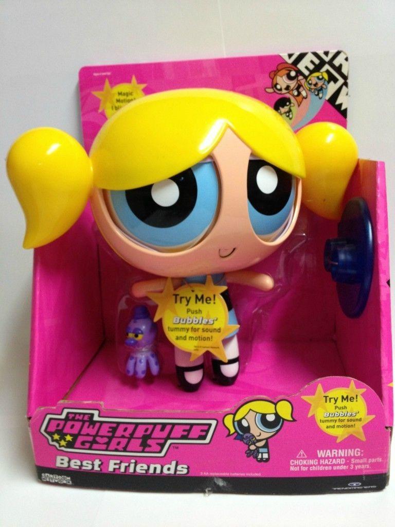 BNIB Powerpuff Girls Best Friends Robotic Talking Bubbles 2001
