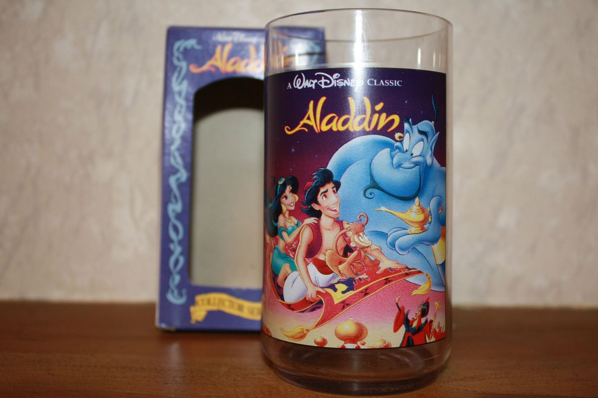 Collector Glass ALADDIN 1994 Burger King Coca cola NIB kids cup