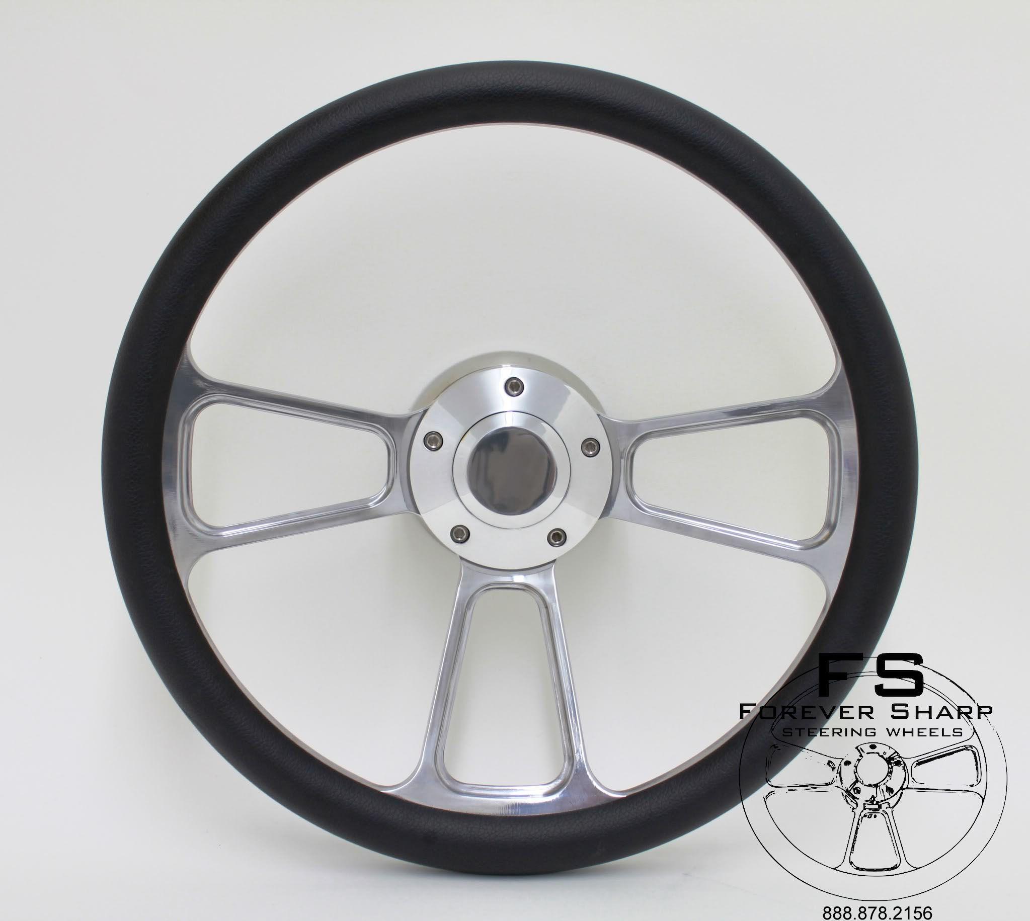 14 Billet Steering Wheel w Billet Adapter 4 Golf Carts