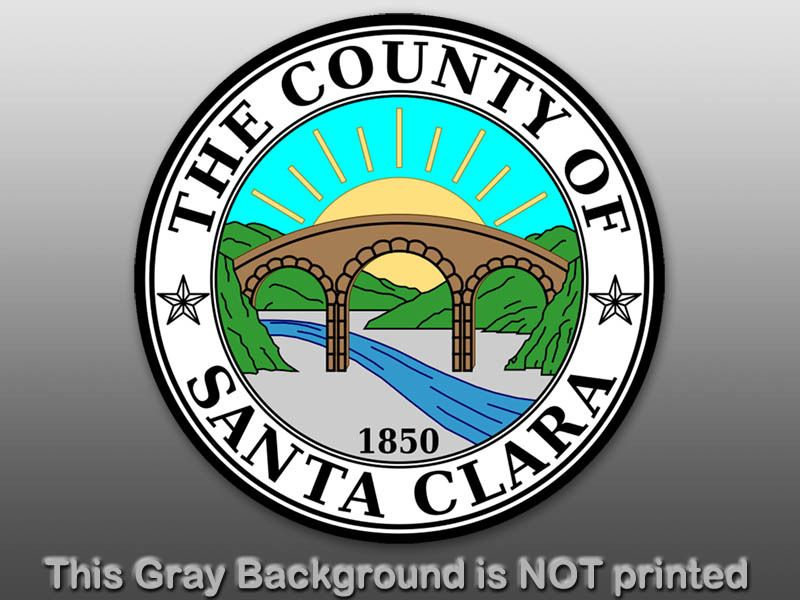 Round County of Santa Clara Seal Sticker Decal City