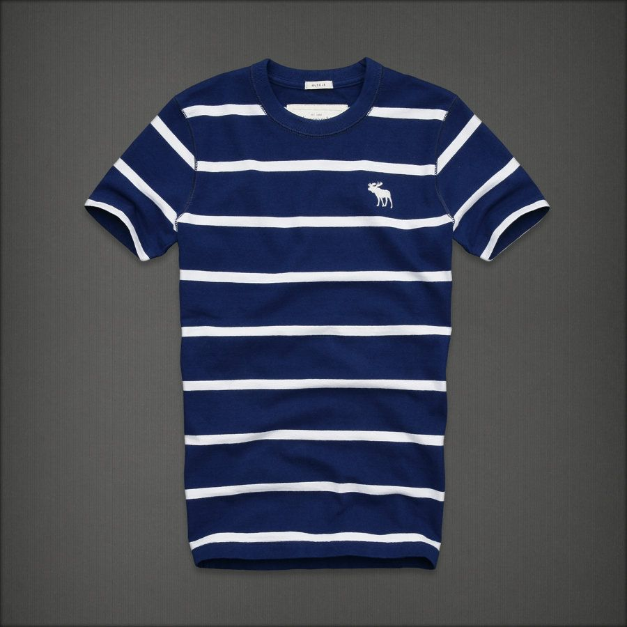FITCH Dark Blue White Stripe COLDEN DAM T Shirt MENS L LARGE NEW