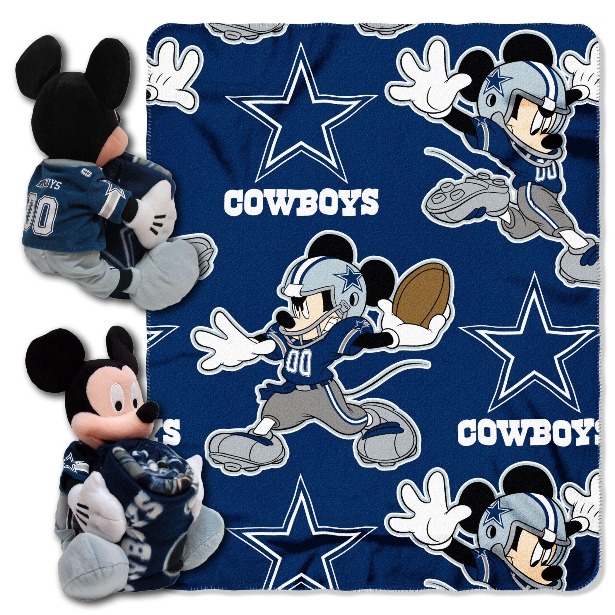 Dallas Cowboys Disney Mickey Mouse Ultimate 5pc Set Hugger, Pillow