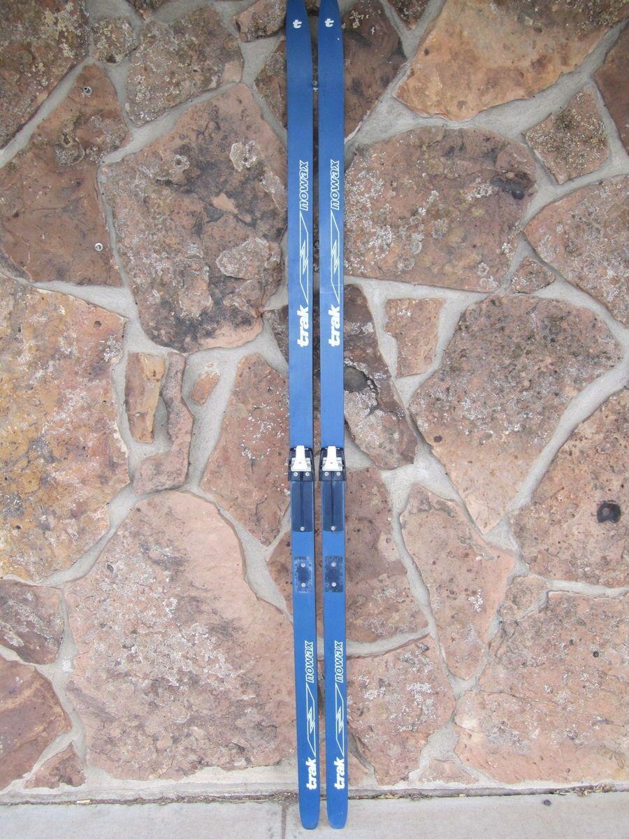 Trak No Wax Cross Country Skis w Salomon SNS Bindings Excel Poles