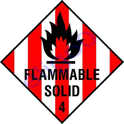 flammable solid Flammable solids spontaneously combustible material is a pyrophoric material, which is a liquid or solid that can ignite within five (5) minutes after coming in contact with air or a self-heating material that when in contact with air.
