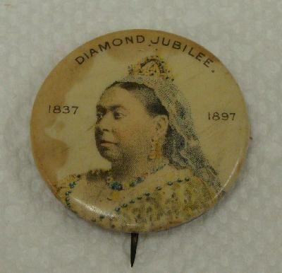 Victoria Diamond Jubilee 1.25 Pinback Button pin Whitehead & Hoag