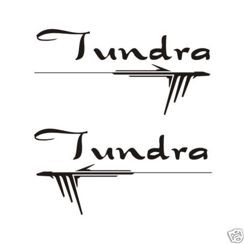 Toyota Tundra Graphic Script Font Stickers Decals