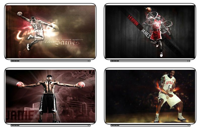 Lebron James NBA Laptop Netbook Skin Decal Stickers New