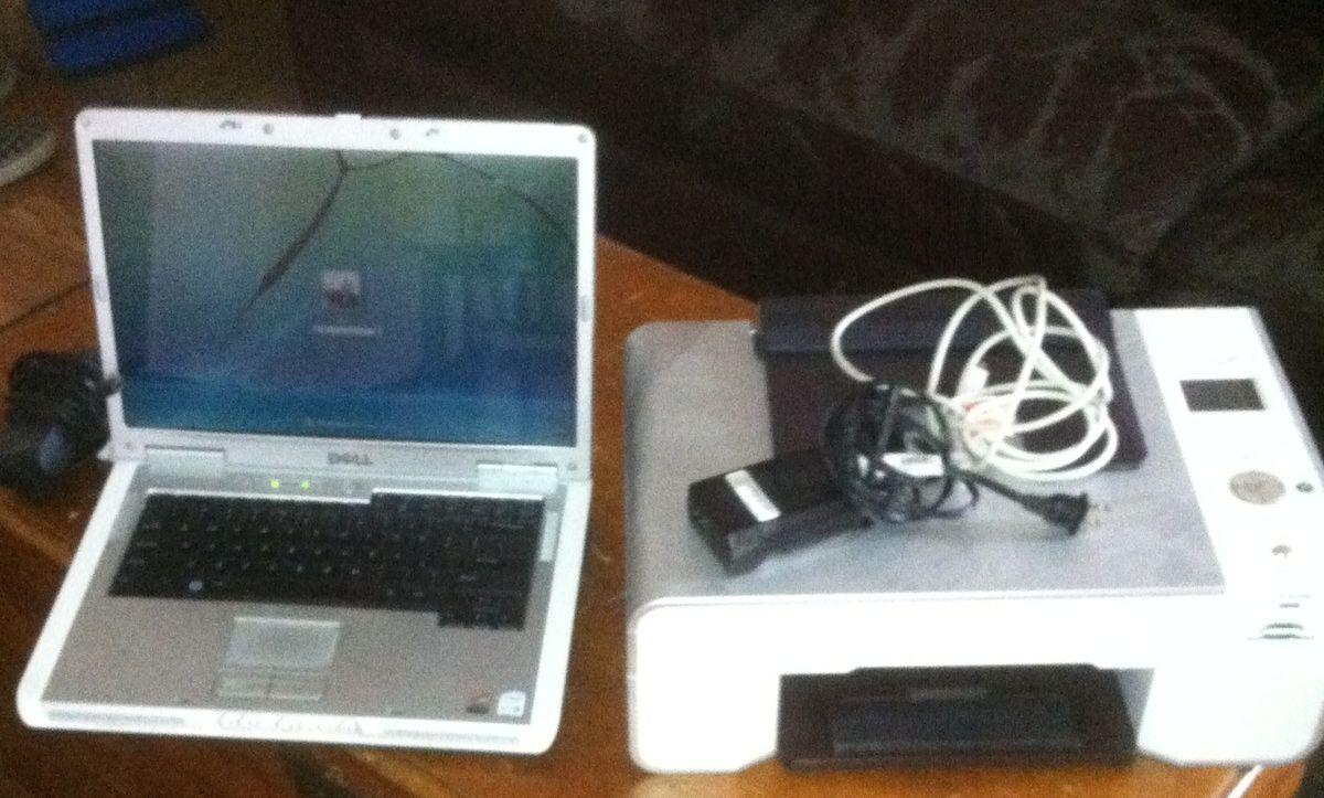 Dell Inspiron E1505 Laptop/Notebook & Dell 944 All In One Printer