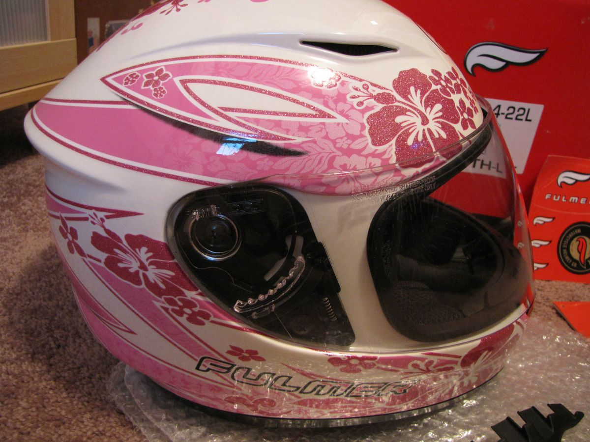 Fulmer AF J5 Full Face Motorcycle Helmet Youth L Pink LEI Mint Used