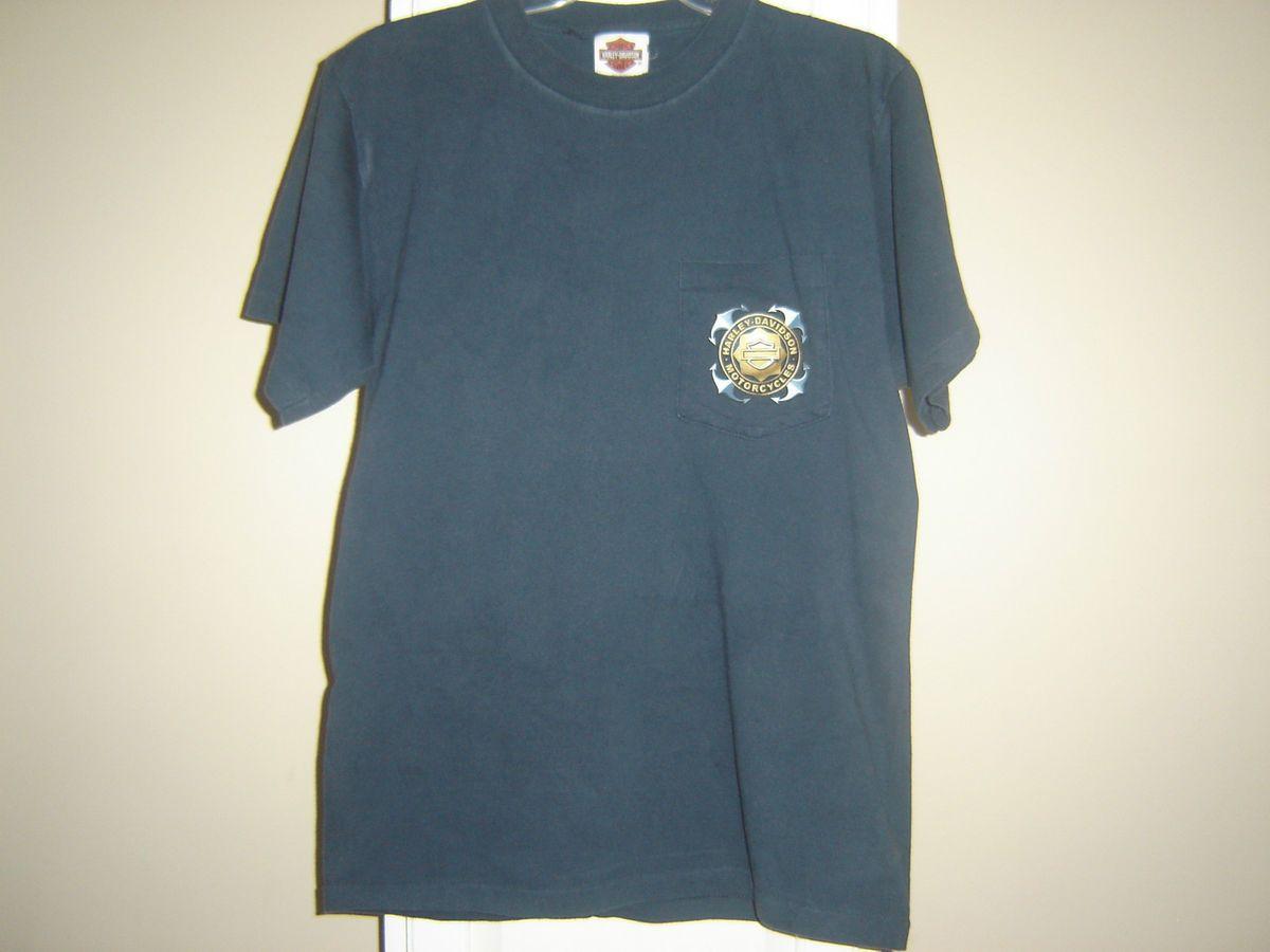 Harley Davidson Short Sleeve Motorcycle T Shirt Mens Size Medium Doug