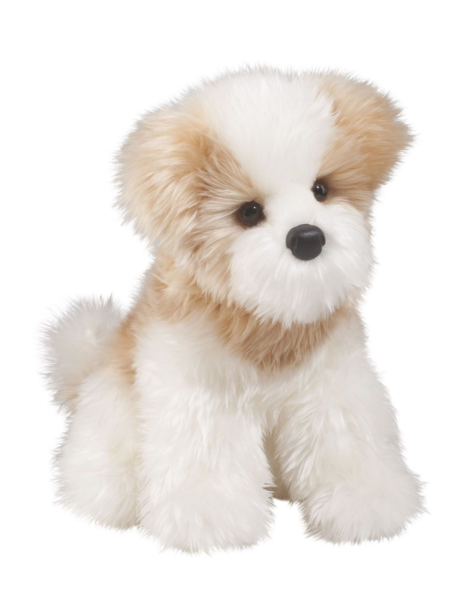 Douglas 12 Maltese Dog Stuffed Plush Furry Animal Toy 1901 Free