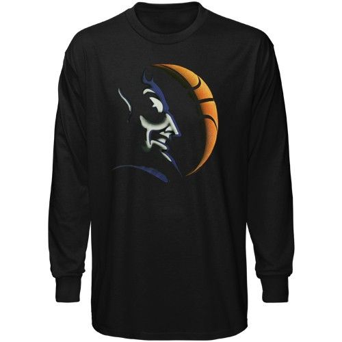Duke Blue Devils Black Basketball Blackout Long Sleeve T Shirt