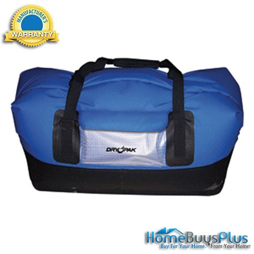 dry pak waterproof duffel bag xl blue
