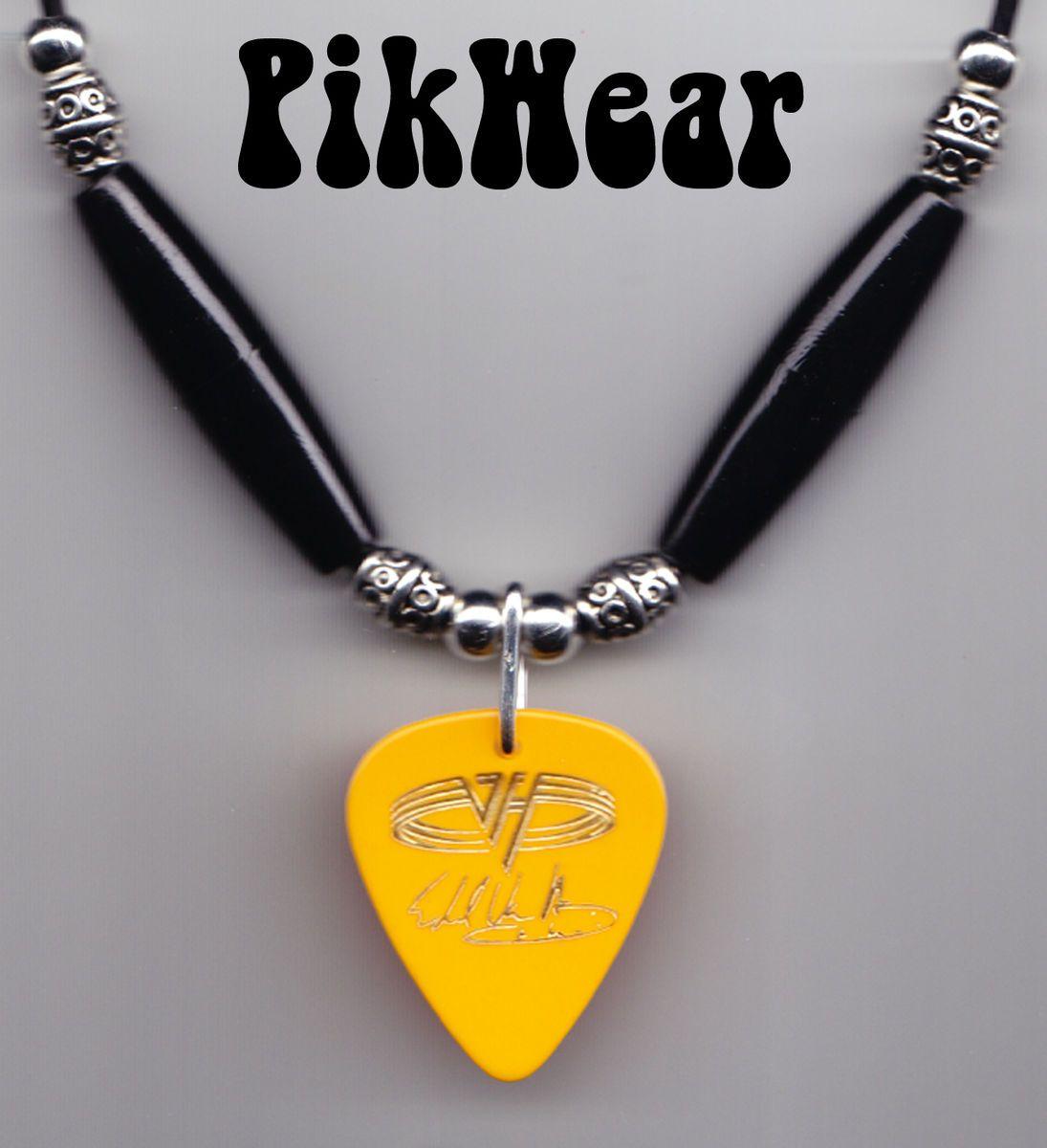 eddie van halen signature yellow guitar pick necklace 1995 balance. Black Bedroom Furniture Sets. Home Design Ideas