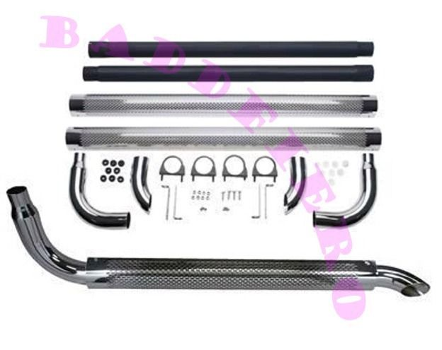 Chrome Exhaust 60 Side Pipes 3 Ford Chevy Dodge Pontiac Hot Rat Rod