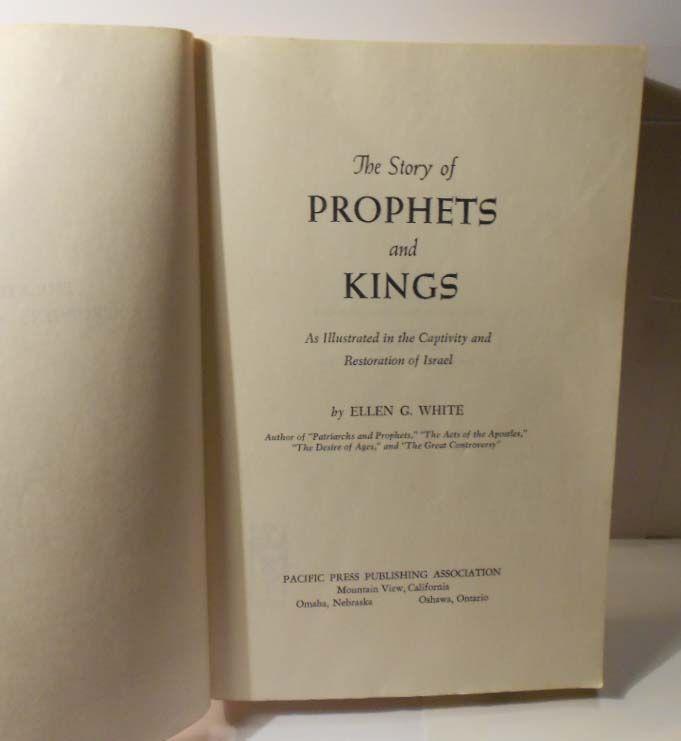Vintage Ellen G White Book 1943 Prophets Kings Pacific Press Pub SC VG