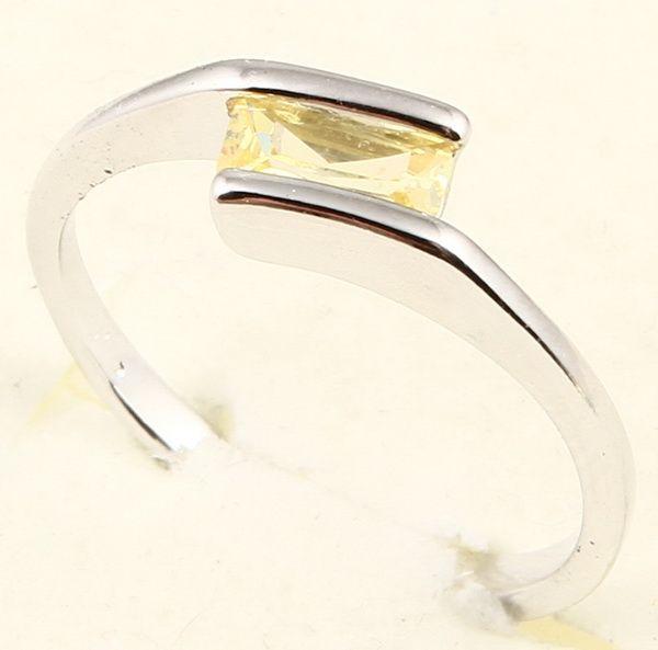 3x6mm Emerald Cut Yellow Sapphire 65 Ring