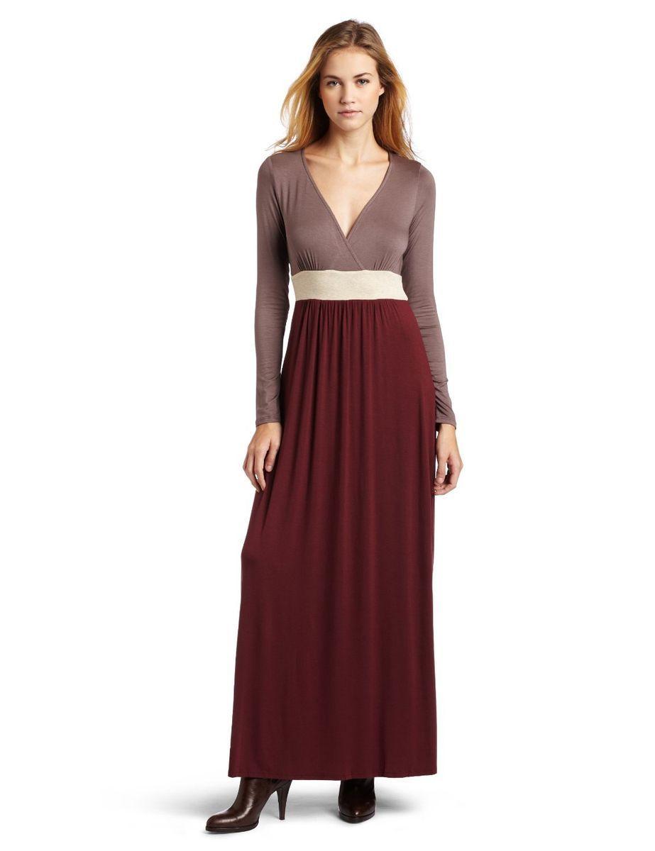 Ella Moss Long Color Block Daphne Jersey Maxi Dress M