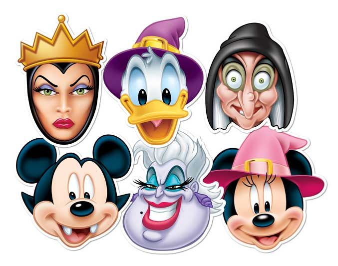 Official Disney Party Face Masks Mickey Mouse Muppets Princess Toy