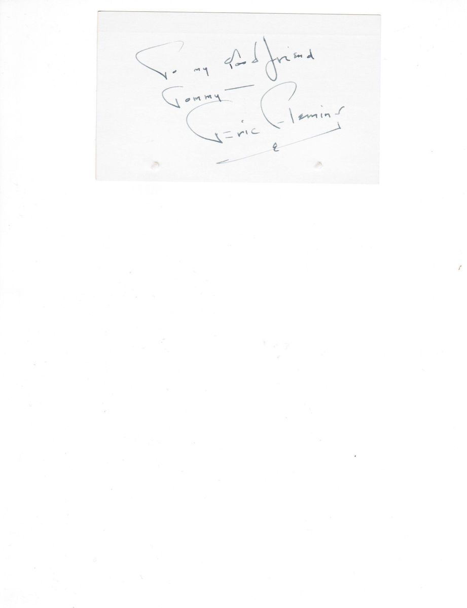 Eric Fleming American Actor Hand Signed Index Card