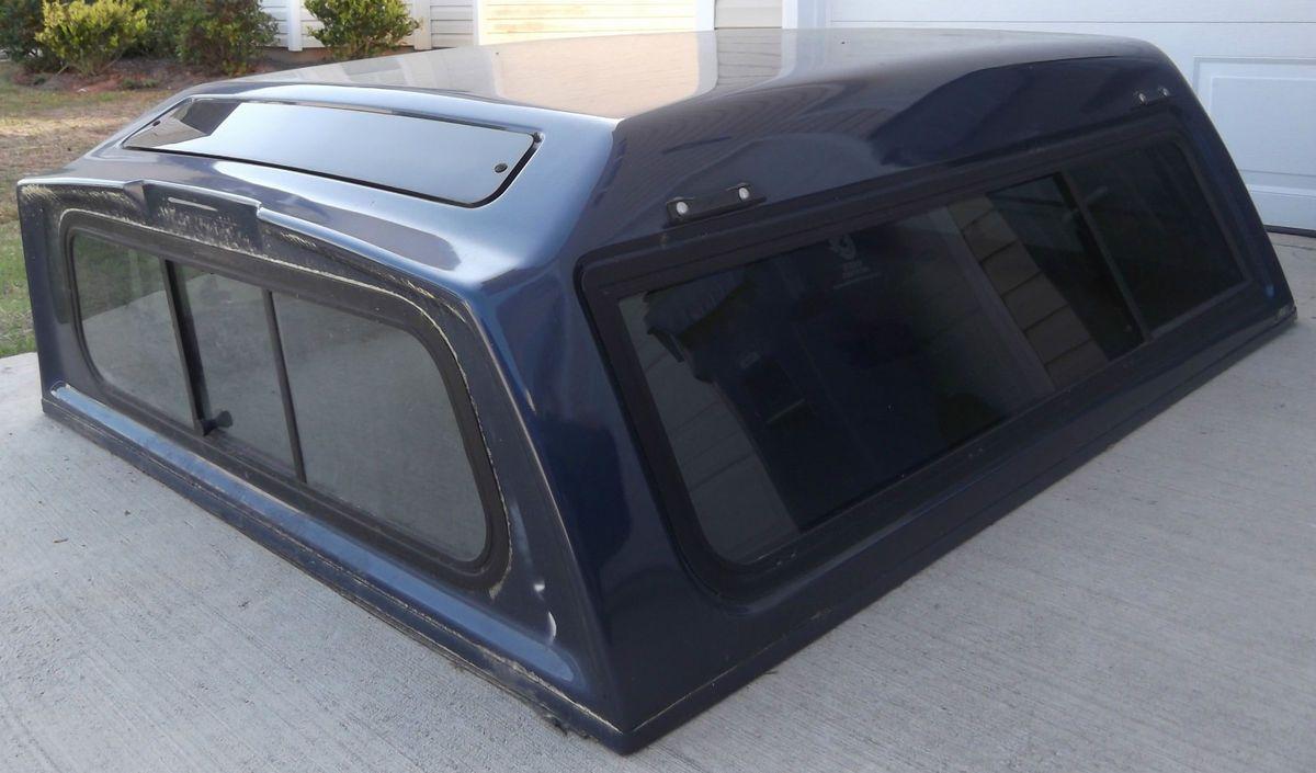 Fiberglass Truck Cap Topper Shell Bed Cover   Blue, w/C Clamps