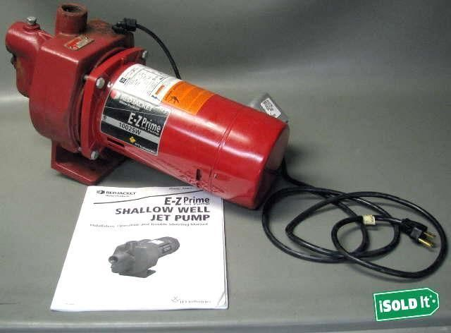 GOULDS RED JACKET EZ PRIME SHALLOW WELL JET PUMP WATER