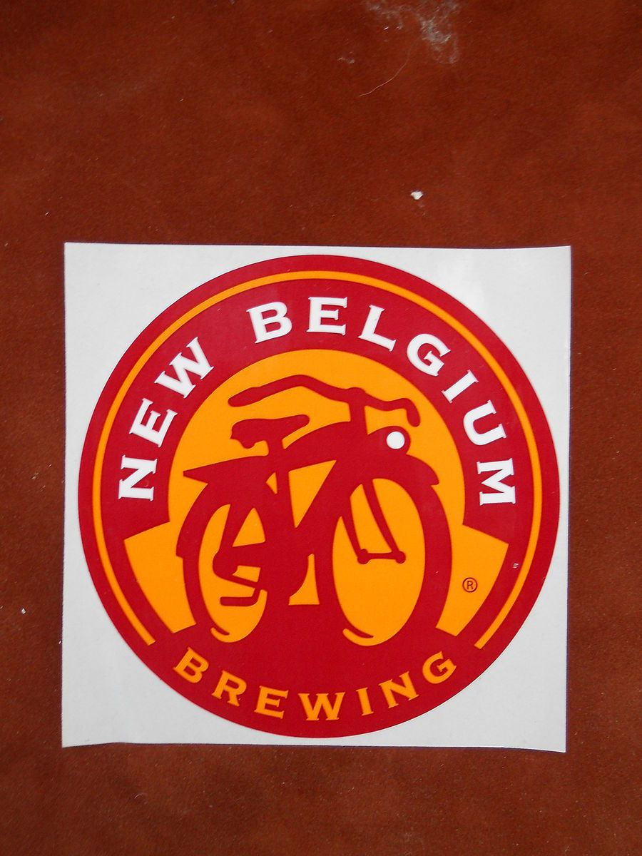 Belgium Brewing bicycle logo sticker decal, beer Fort Collins Colorado