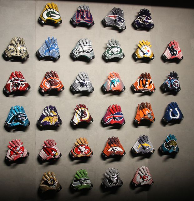 Jet 2 0 Team Authentic Football Gloves Mens Various NFL Teams