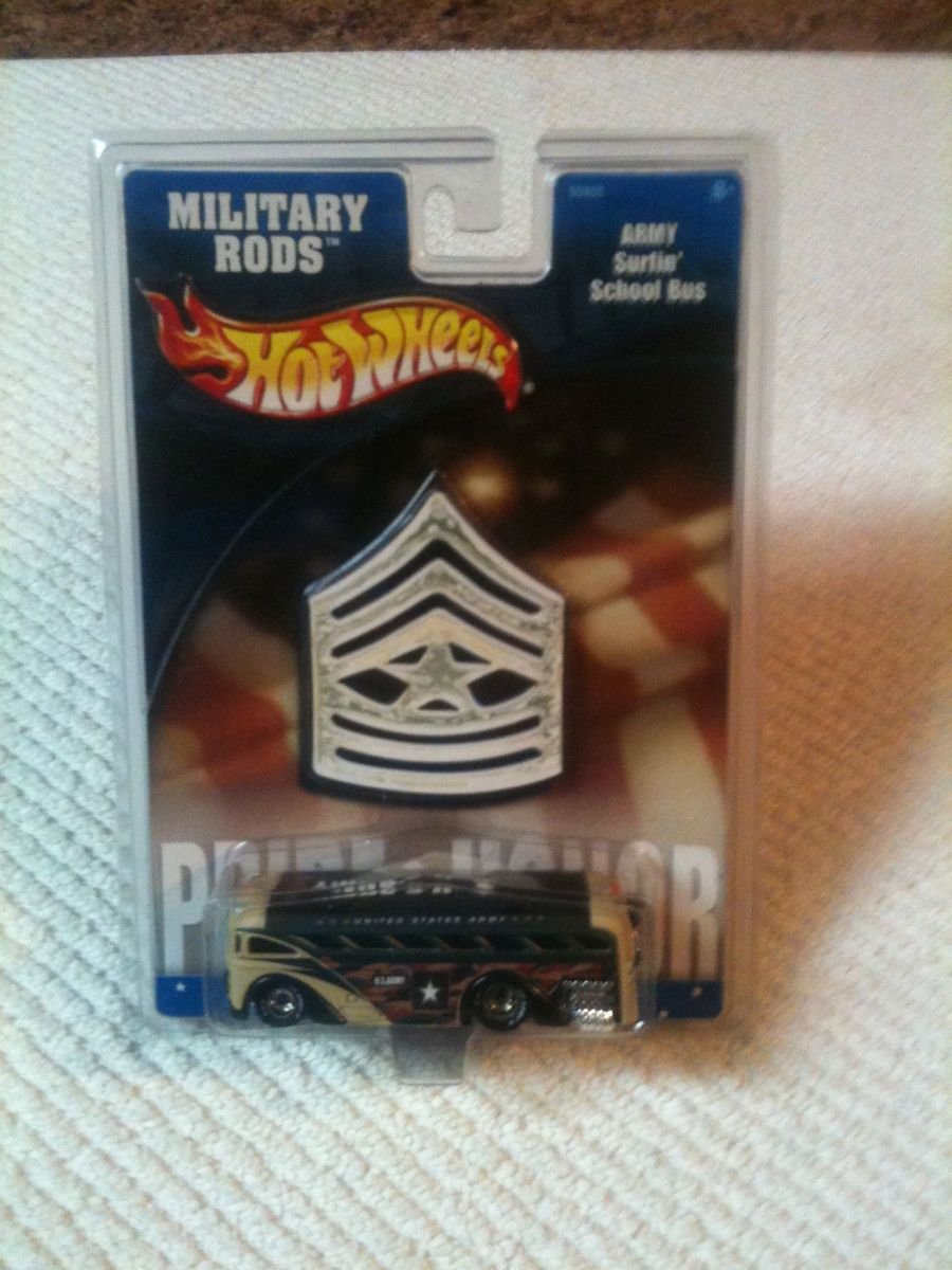 Hot Wheels Military Rods Army Surfin School Bus 2002