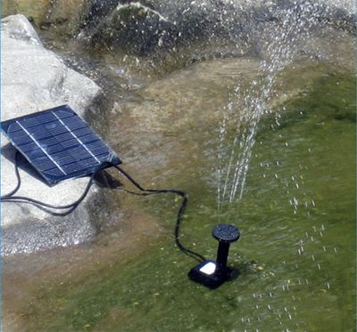 Solar Fountain Water Pump Power Panel Pool Garden Pond Watering