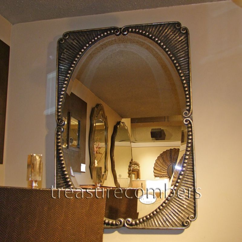 French Style Large Metal Beveled Wall Mirror Home Decor