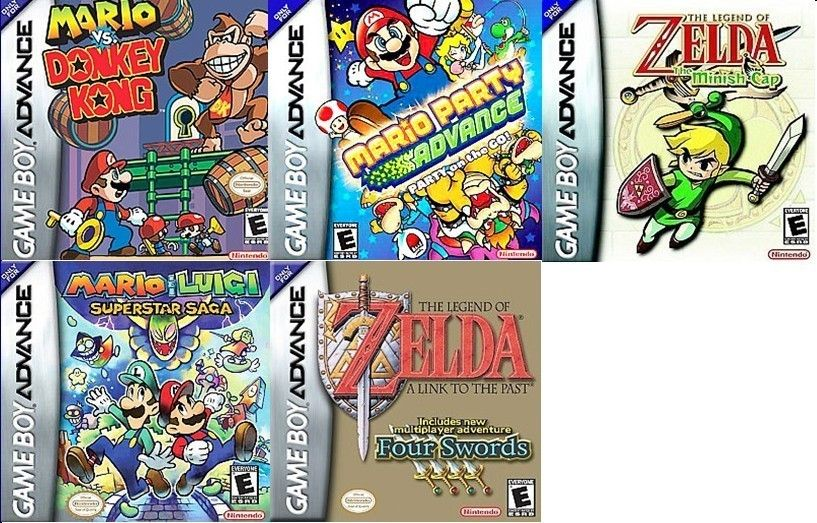 Lot of 5 Game Boy Advance Games Mario Zelda