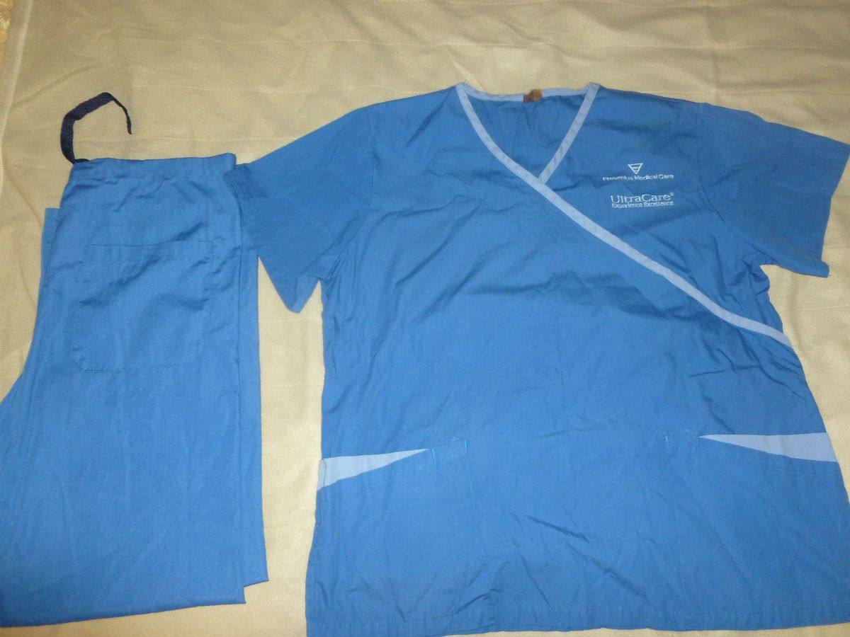 Fresenius Medical Care Uniform Scrubs Complete Set Top and Bottom