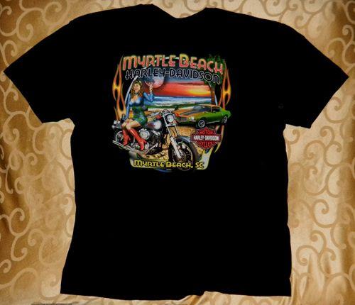 New Harley Davidson Motorcycle T Shirt XL Myrtle Beach Bike Hog Biker